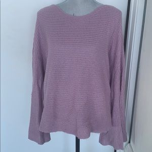 Nordstrom BP purple flare sleeve sweater